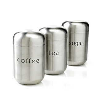 nurdew livingquarters set of 3 stainless steel canisters