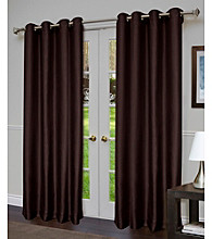 Design Decor Venice Two-Tone Faux Silk Grommet Panel