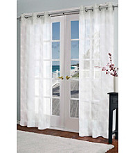 Design Decor Perth Textured Semi-Sheer Grommet Panel