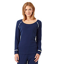 Jockey® Long Sleeve Knit Top - Navy