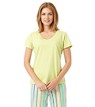 Jockey® Short Sleeve V-Neck Top - Green