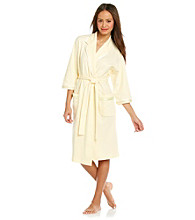 Aria® Knit Short Wrap Robe - Yellow