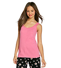 HUE® Ribbed Tank Top - Hot Pink