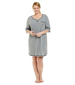 KN Karen Neuburger Plus Size Knit Sleepshirt