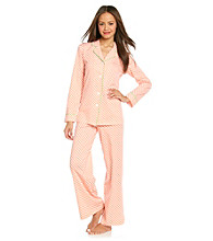 HUE® Cotton Pajama Set - Mandarin Foulard