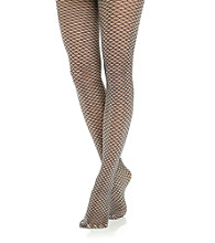 HUE® Metal Faux Fishnet Tights