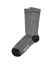 HUE® Huetopia Black Multi Pique Flat Knit Socks