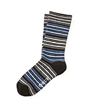 HUE® Huetopia Black Lurex Stripe Socks