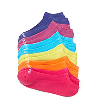 HUE® 6-pk. Mesh Top No Show Socks - Brights