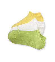 HUE® 3-pk. Sunshine Air No Show Socks