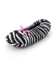 Fuzzy Babba® Black and White Zebra Slippers