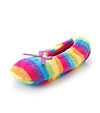Fuzzy Babba® Rainbow Stripe Slippers