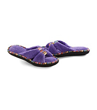 Isotoner® Microterry Trim X Slide Slippers