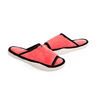 Isotoner® Microterry Trimmed Sport Slide Slippers
