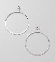Relativity® Large Hoop Earrings with Faceted Post Top