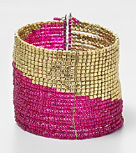 Relativity® Goldtone with Seed Bead Cuff