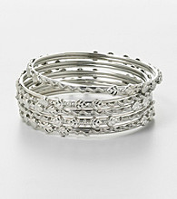 Erica Lyons® Thin Bangle Stack
