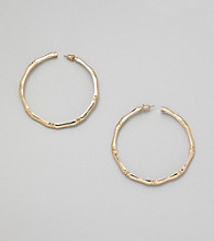 Erica Lyons® Goldtone Hoop Pierced Earrings