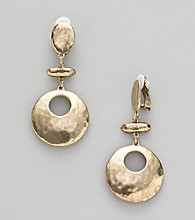 Erica Lyons® Goldtone Drop Clip Earrings