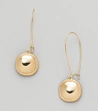 Erica Lyons® Goldtone Drop Wire Pierced Earrings