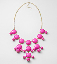 Erica Lyons® Pink Long Cab Front Necklace