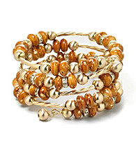 Erica Lyons® Brown and Goldtone Coil Bracelet
