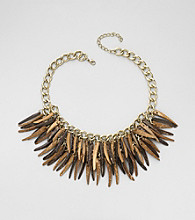Erica Lyons® Brown Multi Sahara Necklace