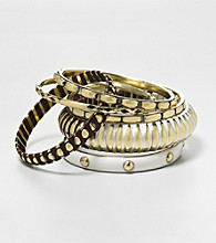 Erica Lyons® Brown Multi Sahara Bangle Stack Bracelets