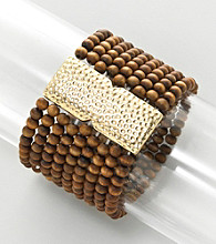 Erica Lyons® Brown Sahara Stretch Bracelet