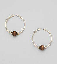 Erica Lyons® Brown Sahara Hoop Pierced Earrings
