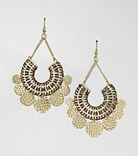 Erica Lyons® Brown Sahara Drop Pierced Earrings