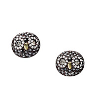 Fossil® Brown Owl Stud Earrings