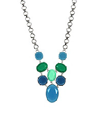 Anne Klein® Silvertone and Blue Drama Necklace