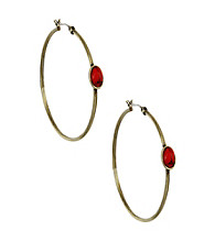 Nine West Vintage America Collection® Turquoise Stone Hoop Earrings