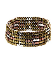 Nine West Vintage America Collection® Tribal Beaded Stretch Bracelet