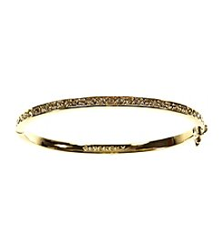 Givenchy® Crystal and Goldtone Bangle Bracelet