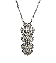 Givenchy® Large Pearl and Crystal Pendant Necklace