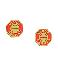Vince Camuto™ Goldtone and Salmon Geometric Stud Earrings
