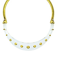 Vince Camuto™ Lucia Goldtone/White Collar Necklace