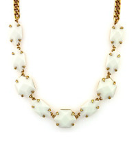 Vince Camuto™ Bright Gems Goldtone and White Link Stone Necklace