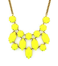 Vince Camuto™ Bright Gems Goldtone and Lemon Bib Necklace