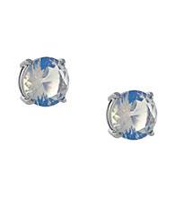 Jessica Simpson Silvertone All a Flutter Opal Stud Earrings