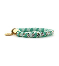 Jessica Simpson Colorwheel Mint and Goldtone Bracelet