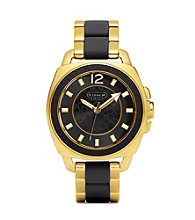 COACH GOLD BOYFRIEND BRACELET WATCH
