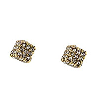 BCBGeneration™ Goldtone Pave Stud Earrings