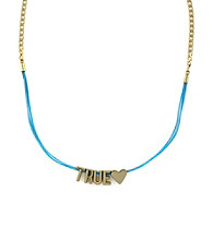 BCBGeneration™ Blue and Goldtone True Love Mini Affirmation Necklace