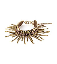 BCBGeneration™ Flirty Fringe Goldtone and Pink Bracelet