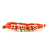 BCBGeneration™ Goldtone Fearless Friendship Affirmation Bracelet