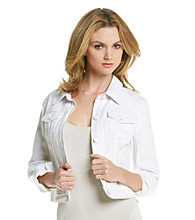 DKNY JEANS® White Denim Jacket