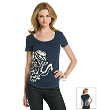 Lucky Brand® Screen Printed Elephant Tee